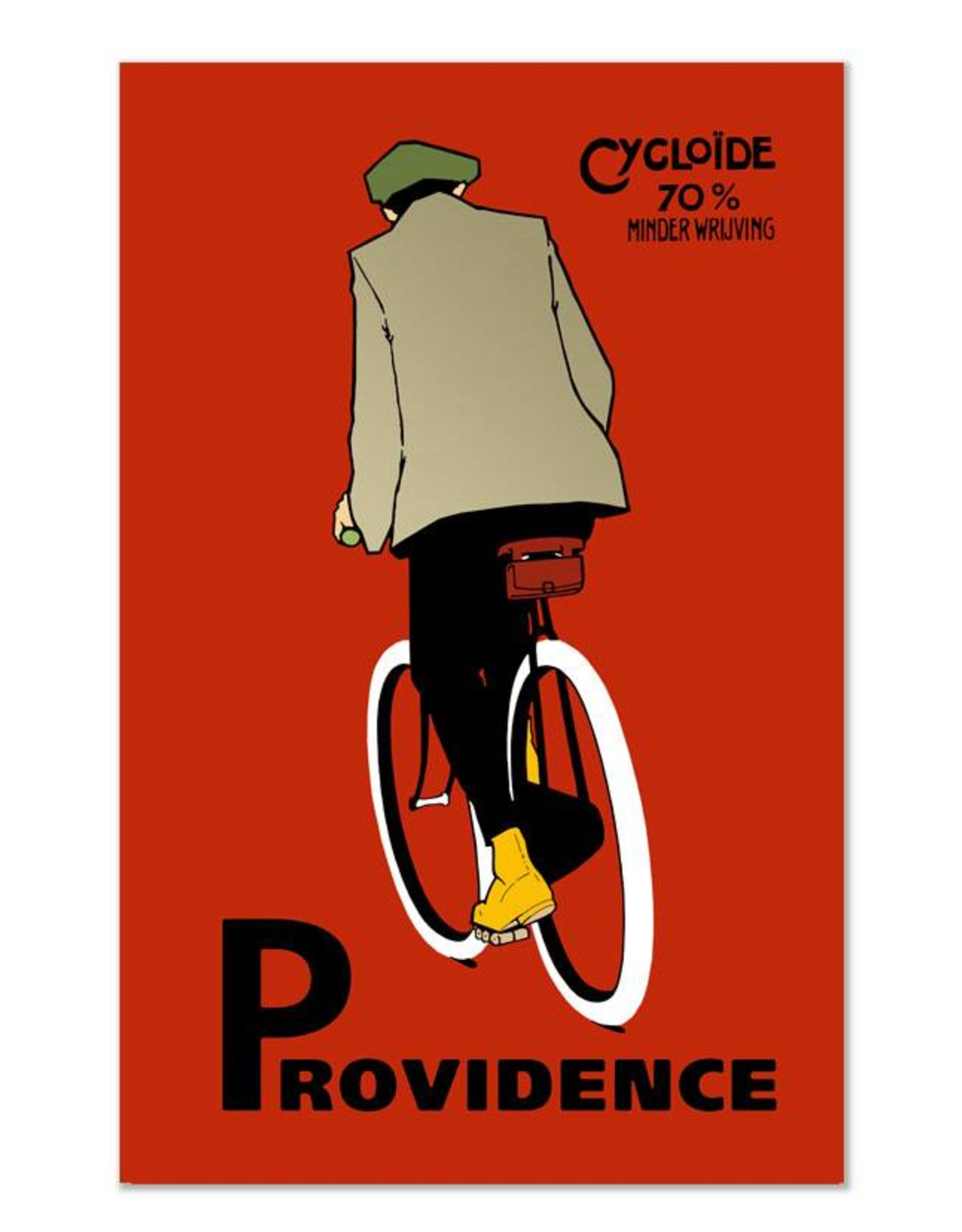 Providence Red Bicycle Greeting Card