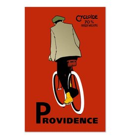 Frog & Toad Design Providence Red Bicycle Greeting Card