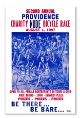 Frog & Toad Design Providence Charity Nude Bicycle Race Greeting Card