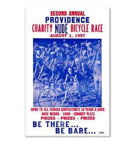 Providence Charity Nude Bicycle Race Greeting Card