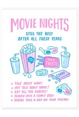 Lucky Horse Press Movie Nights Still The Best After All These Years Greeting Card
