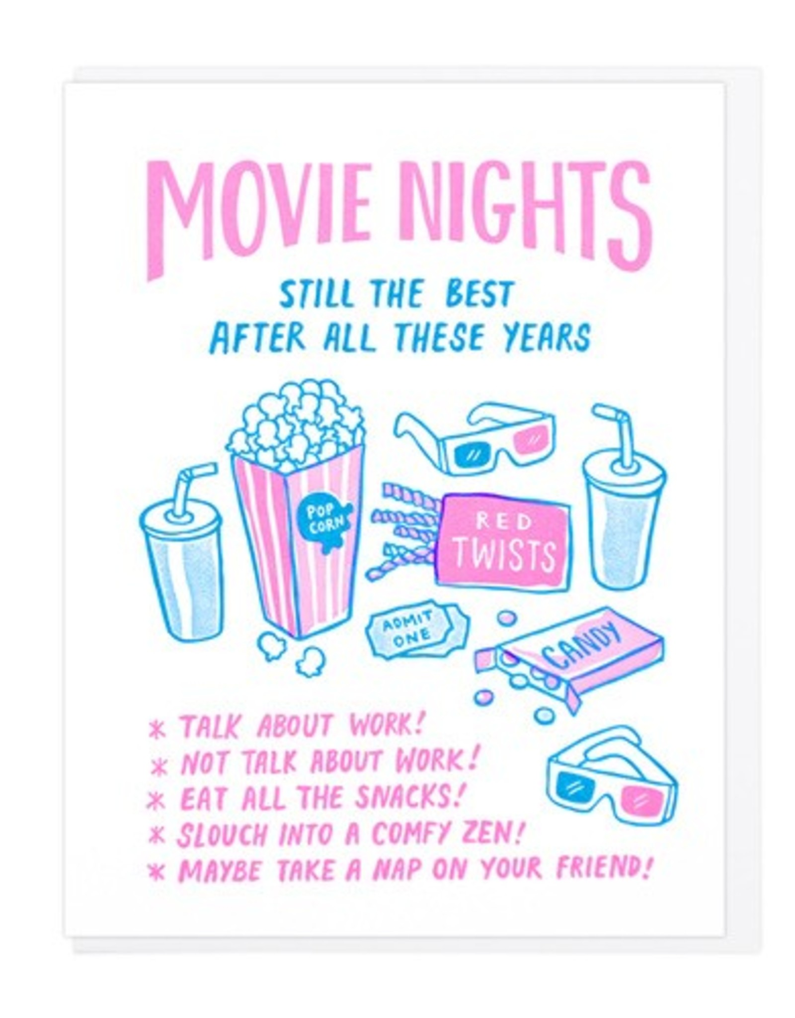 Movie Nights Still The Best After All These Years Greeting Card