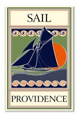 Frog & Toad Design Sail Providence Greeting Card