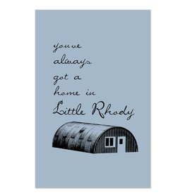 Little Rhody Quonset Hut Greeting Card
