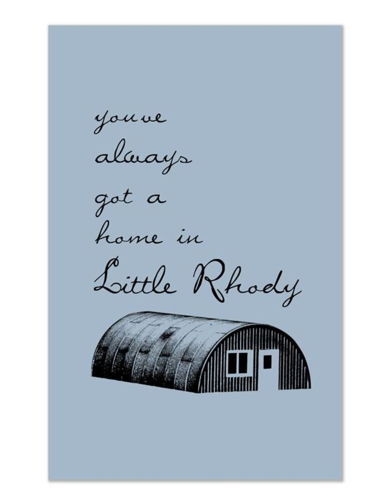 Frog & Toad Design Little Rhody Quonset Hut Greeting Card