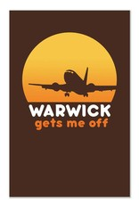 Warwick Gets Me Off Greeting Card