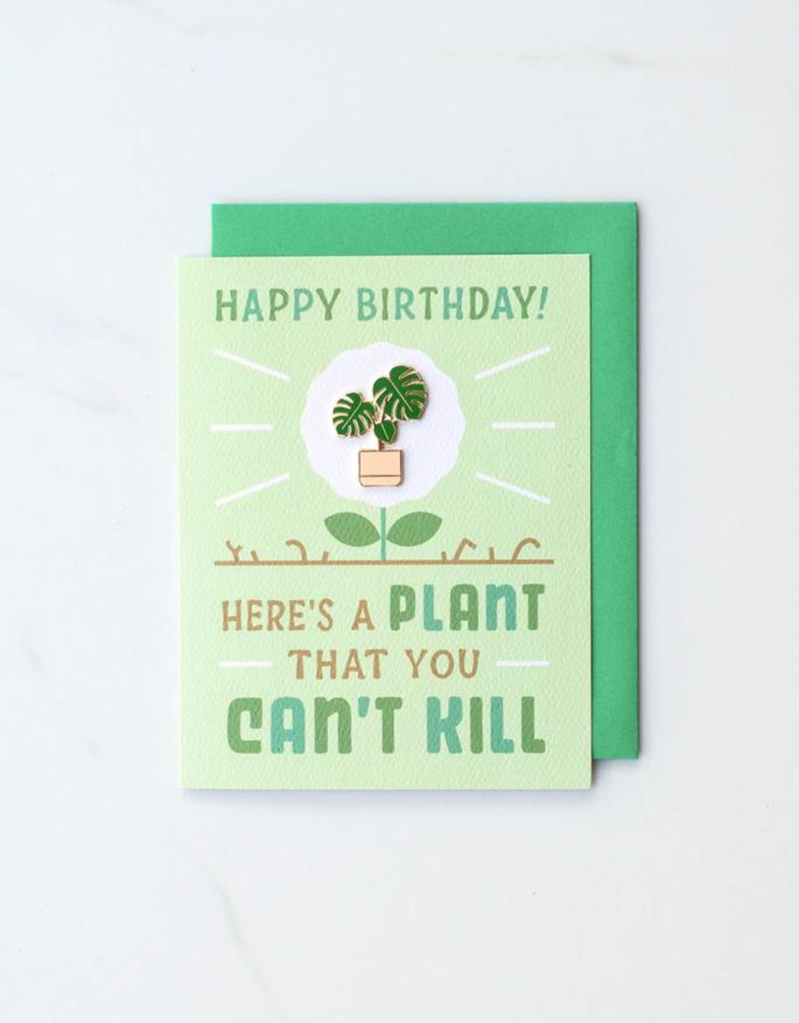 A Plant You Can't Kill Card & Enamel Pin