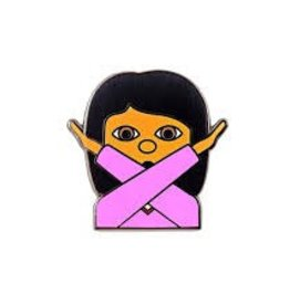 Valley Cruise No Way Emoji Enamel Pin