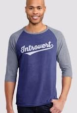 Headline Introvert Ringer 3/4 Sleeve T-Shirt