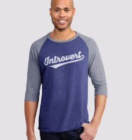 Headline Introvert Ringer 3/4 Sleeve T-Shirt