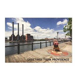 Frog & Toad Press Big Nazo and Smokestacks Postcard