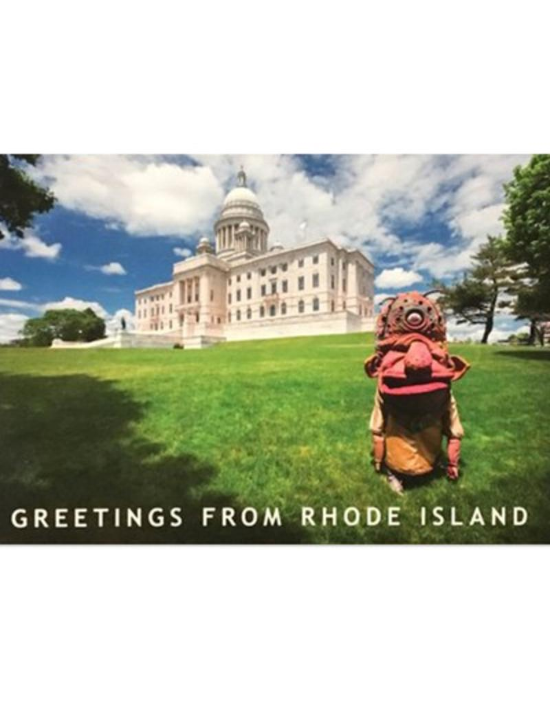 Frog & Toad Press Big Nazo and State House Lawn Postcard