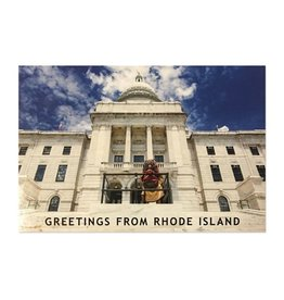 Frog & Toad Press Big Nazo on The State House Steps Postcard