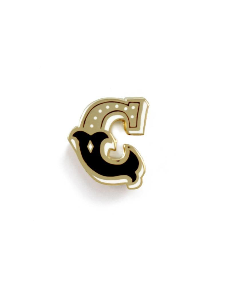 Frog & Toad Press Letter C Enamel Pin
