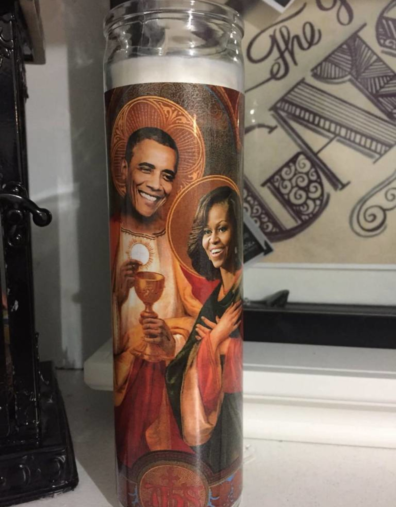 Rust Belt Cooperative Michelle & Barack Obama Prayer Candle