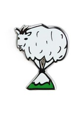 Shiny Apple Studio Mountain Goat Enamel Pin