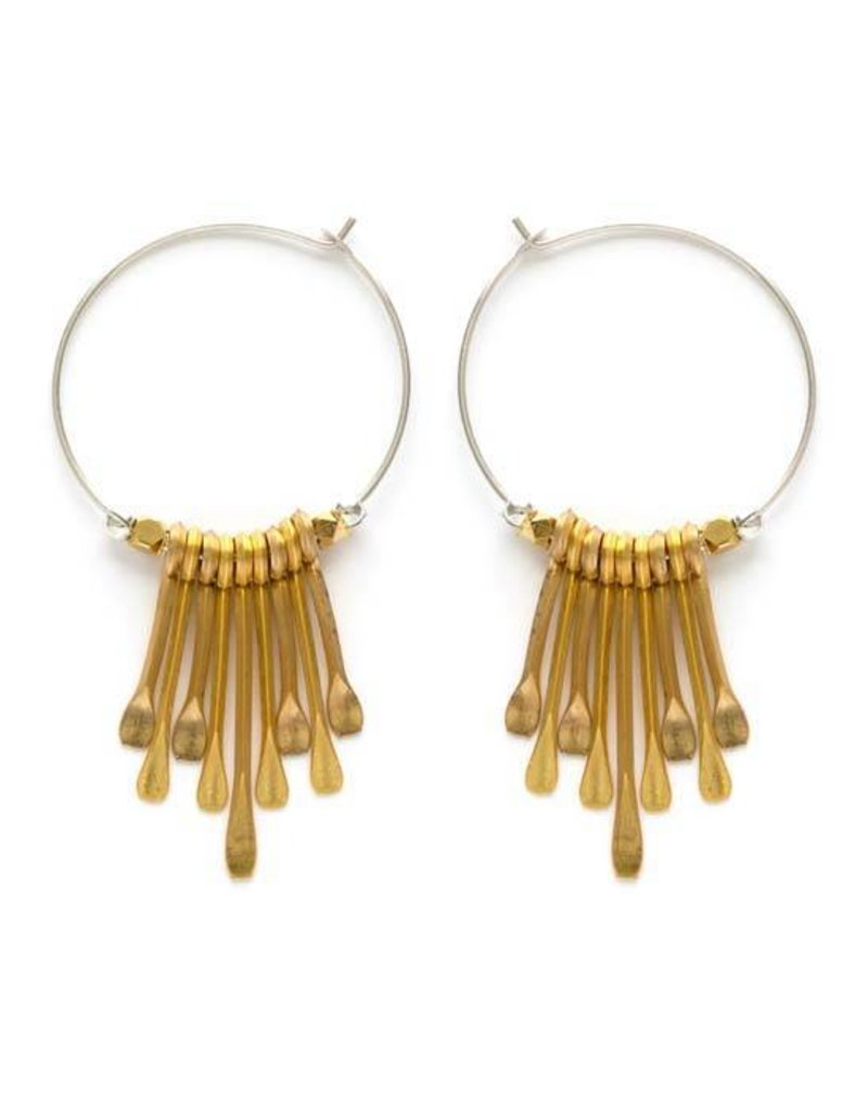 A Mano Trading Petite Paddle Earrings