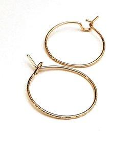 Adorn512 Classic Hoop Earrings, Gold