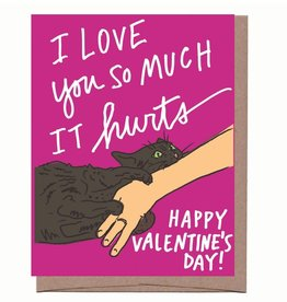 Cat Bite Valentine's Day Greeting Card