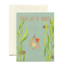 Yeppie Paper Got Me Hooked Crab Greeting Card