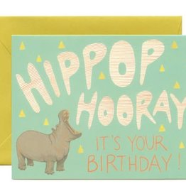Yeppie Paper Hippop Hooray Birthday Hippo Greeting Card