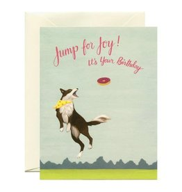 Yeppie Paper Jump For Joy Birthday Dog Greeting Card