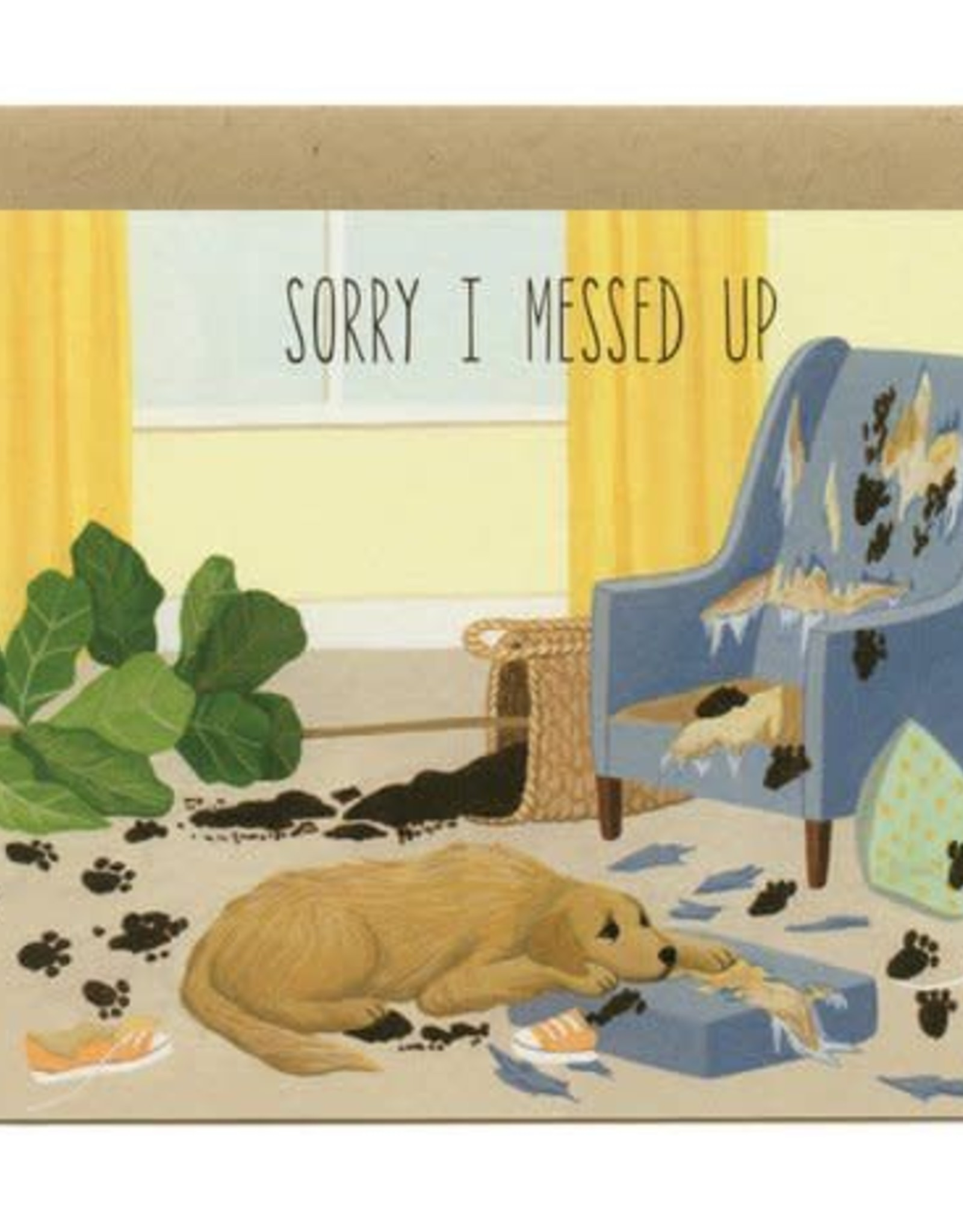 Sorry I Messed Up Dog Greeting Card