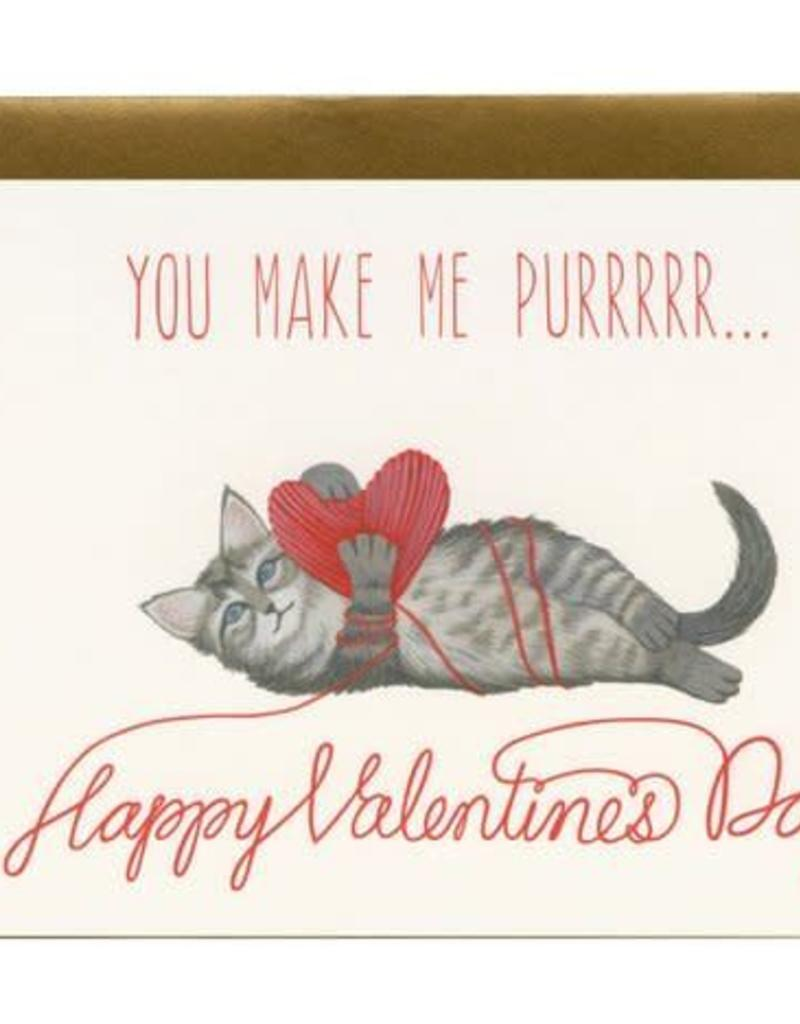 Yeppie Paper You Make Me Purrrrr Kitten Valentine's Greeting Card