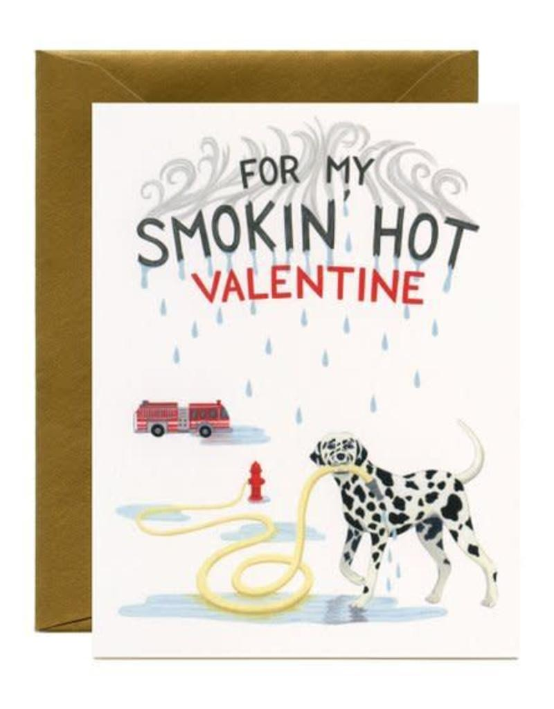Yeppie Paper For My Smokin' Hot Valentine Dalmation Greeting Card
