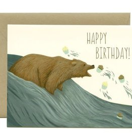 Yeppie Paper Birthday Cupcakes Grizzly Bear Greeting Card