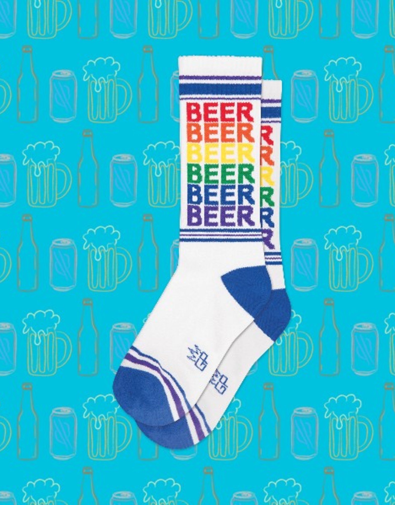 Beer Rainbow Ribbed Gym Socks
