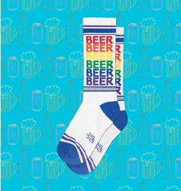 Gumball Poodle Beer Rainbow Ribbed Gym Socks