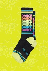 Gumball Poodle Dance Neon Rainbow Ribbed Gym Socks