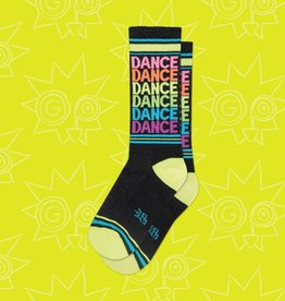 Gumball Poodle Dance Neon Rainbow Ribbed Gym Socks