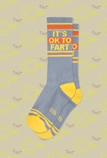 Gumball Poodle It's OK to Fart Ribbed Gym Socks