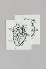 Tattly Heart Chart Tattoo Set of 2
