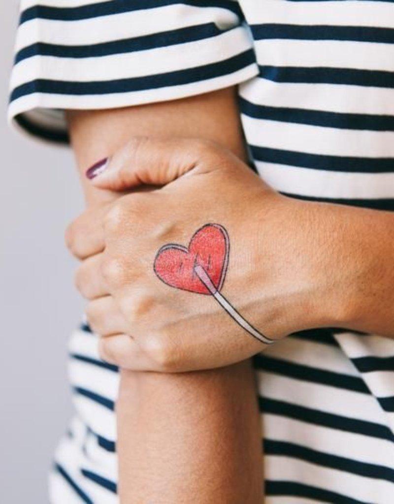 Tattly Heart Lolli Tattoo Set of 2