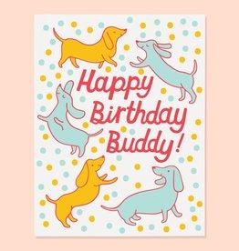 The Good Twin Co. Happy Birthday Buddy Doxie Greeting Card