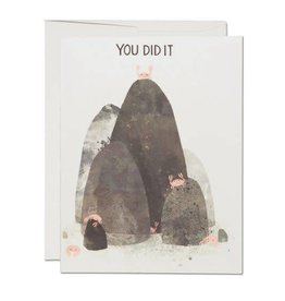 Red Cap Cards You Did It Crabs Greeting Card