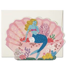 Red Cap Cards Depths of the Ocean For You Mermaid Greeting Card