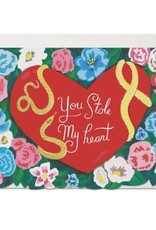 You Stole My Heart Snake Greeting Card