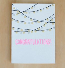 Gold Teeth Brooklyn Congratulations String Lights Greeting Card