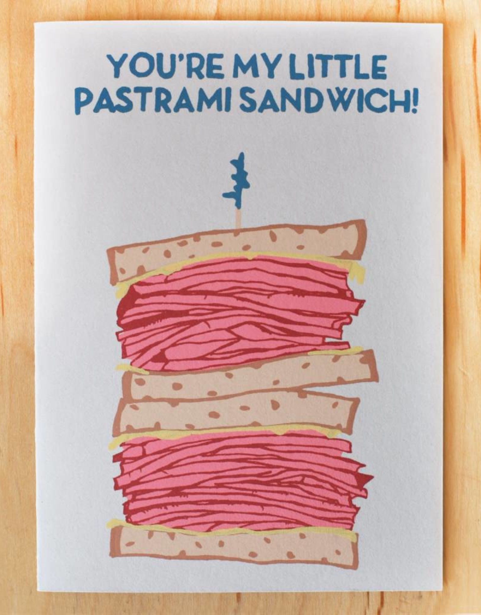 You're My Little Pastrami Sandwich Greeting Card