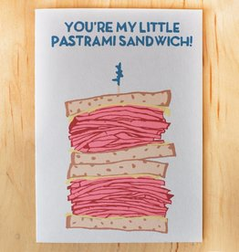Gold Teeth Brooklyn You're My Little Pastrami Sandwich Greeting Card