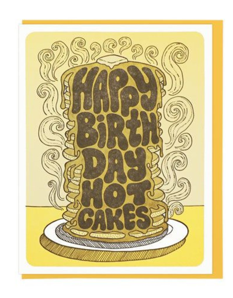Lucky Horse Press Happy Birthday Hot Cakes Greeting Card