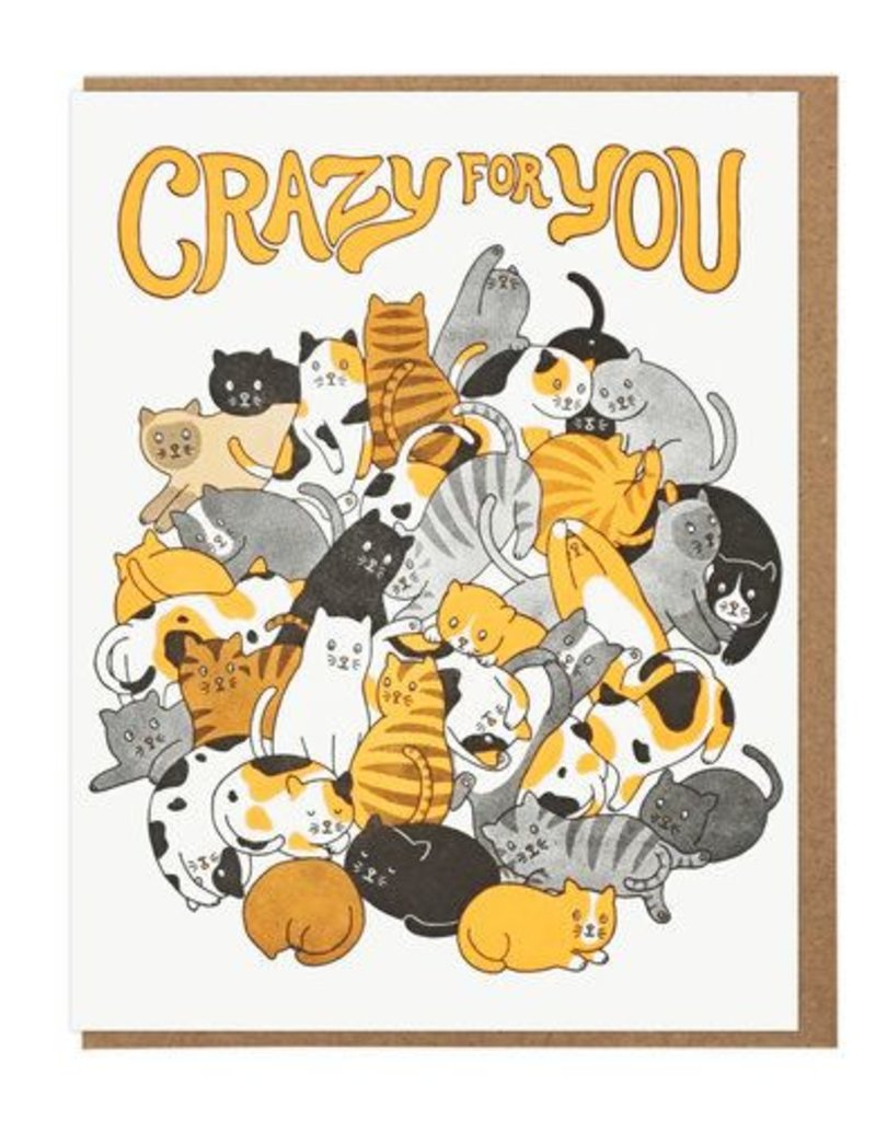 Lucky Horse Press Crazy For You Cats Greeting Card