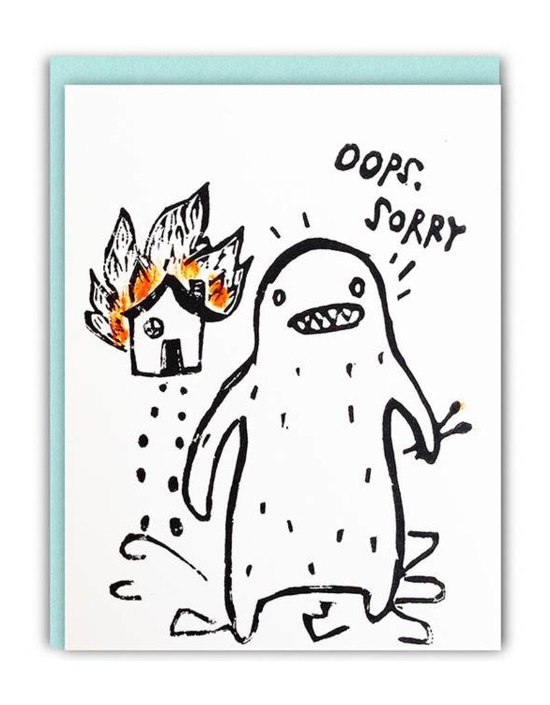 Ghost Academy Oops Sorry Pyro Yeti Greeting Card