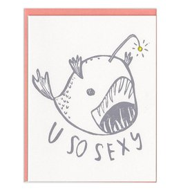 Ghost Academy U So Sexy Anglerfish Greeting Card