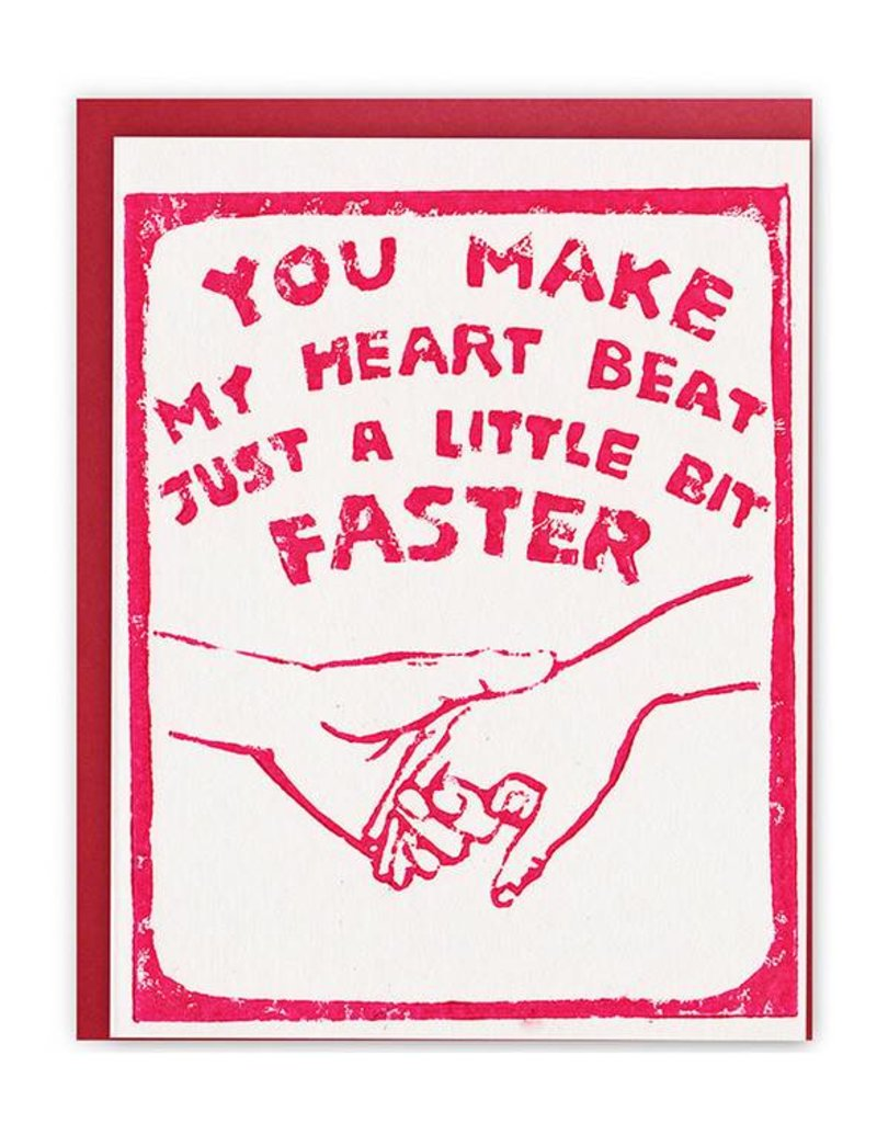 Ghost Academy You Make My Heart Beat Just A Little Faster Greeting Card