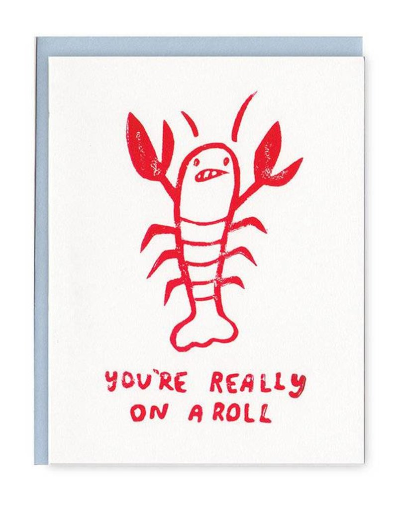 Ghost Academy You're Really On A Roll Lobster Greeting Card